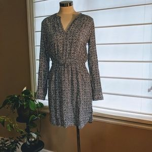 Ann Taylor Loft Navy Print Dress